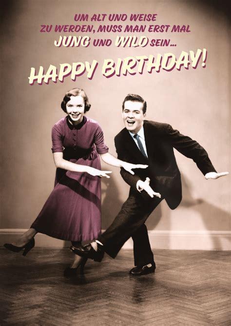 jung wild happy birthday echte postkarten