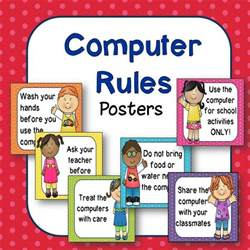 Classroom Computer Rules for Kids