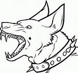 Dog Teeth Scary Sharp Coloring Pages Printable Drawing Cool Boys Categories sketch template
