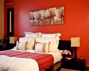 Classy red black and white bedroom ideas with a bit of orange for Black and red bedroom ideas