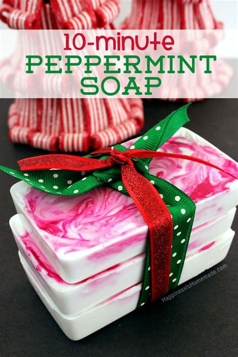 minute diy holiday gift idea peppermint soap