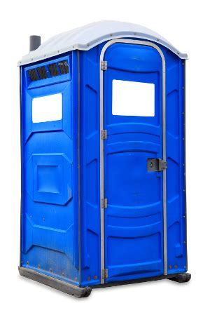 blue portable toilet from proven portable toilets
