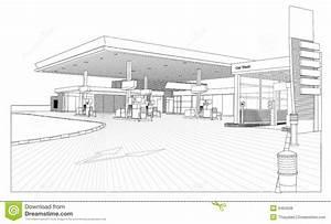 Carte Station Service : vue de station service d 39 ensemble illustration stock illustration du automobile gris 9484538 ~ Medecine-chirurgie-esthetiques.com Avis de Voitures