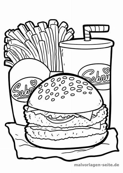 Burger Hamburger Malvorlage Ausmalbilder Essen Malvorlagen Colorare