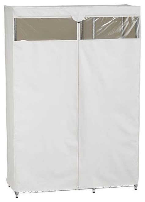 work closet with dust cover modern clothes racks by