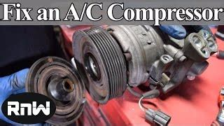 how to make ac cold recharge air and the compressor clutch to engage уроки вязания