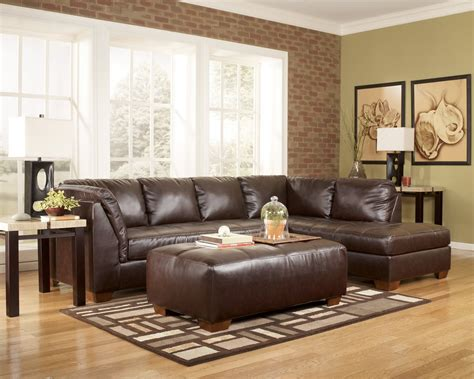 Dark Brown Couch Decorating Ideas by Buy Durablend Mahogany Sectional Living Room Set By
