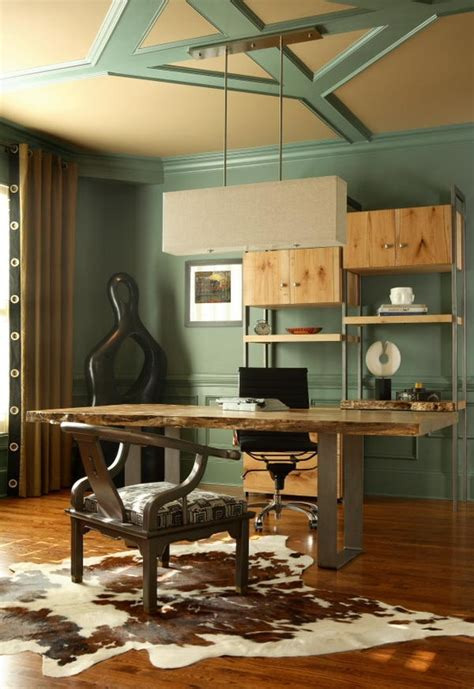 stylish  dramatic masculine home offices digsdigs