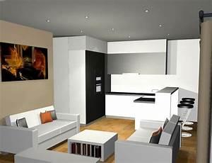 davausnet decoration cuisine salon aire ouverte avec With cuisine et salon ouvert