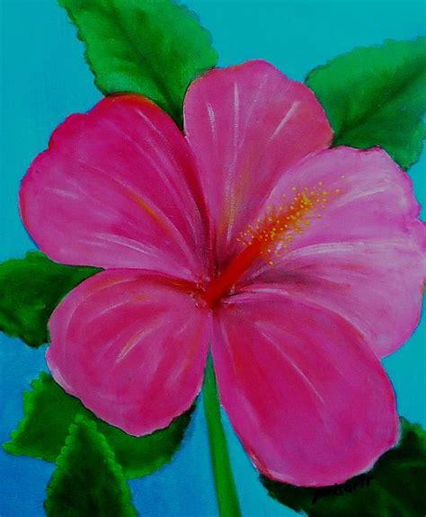 Hibiscus By Pristine Cartera Turkus Cannavas Painting