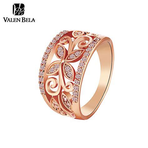 aliexpress com buy valen bela rose gold flower cubic