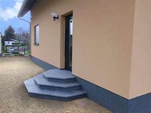 Beton Streichen Außen : treppe aussen haus eingang podest naturstein granit beton ~ Lizthompson.info Haus und Dekorationen