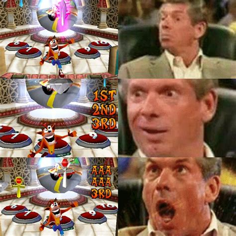 Vince Mcmahon Memes - getting the platinum relic had me like vince mcmahon