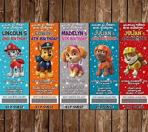 Novel Concept Designs - Paw Patrol Birthday Party Ticket