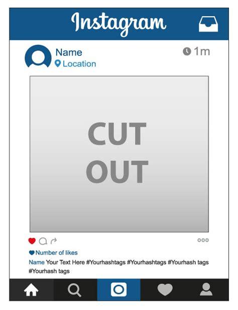 instagram frame prop template personalised instagram frame