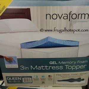 novaform mattress topper costco novaform 3 quot gel memory foam mattress topper