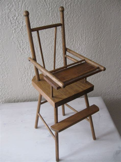 sale antique wooden doll high chair by savedbysalvage on etsy