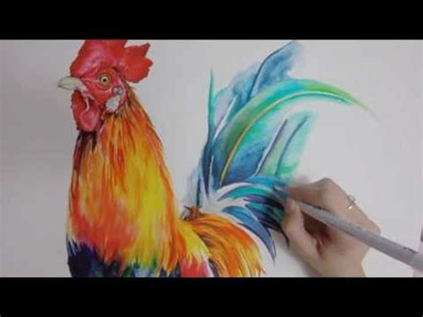 zig clean color real brush rooster speed drawing youtube