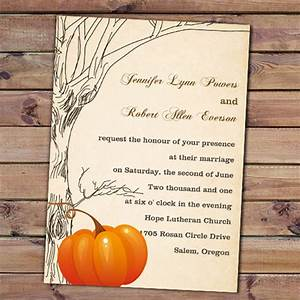 Perfect fall wedding invitations ideas 2013 for Fall wedding invitations with pumpkins