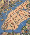Amazing Detailed Graphic Designer's Map from the 1950s ...