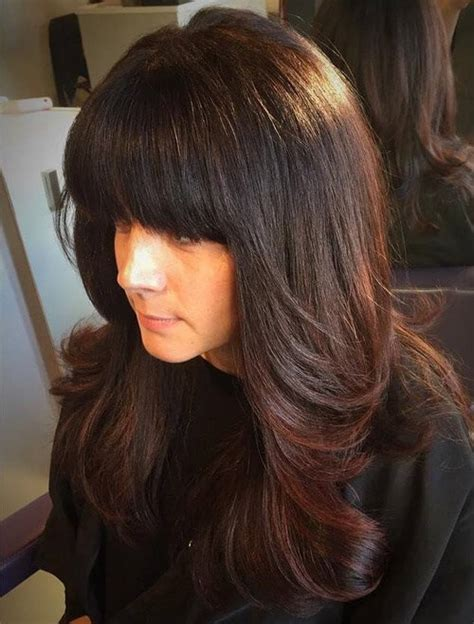 layered haircut thick hair 20 trendy hairstyles with bangs for 5898