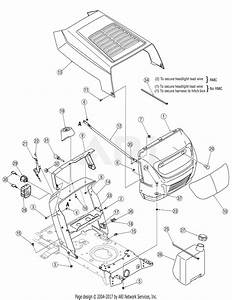 Mtd 13am762f765  2007  Parts Diagram For Hood Style 2