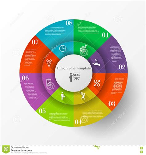 abstract circle infographic template stock vector