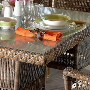Table A Manger Jardin : table manger de jardin chad en poly thyl ne tress la main ~ Melissatoandfro.com Idées de Décoration