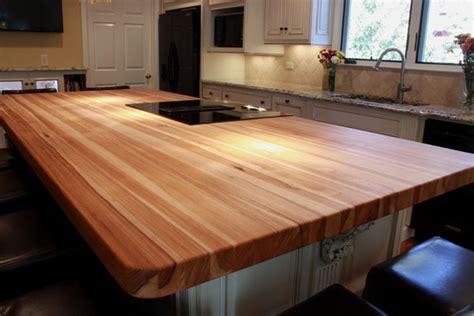 butcher block island countertops custom hickory bucher block kitchen island traditional kitchen other metro by j aaron