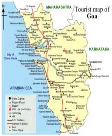 Goa Tourist Map   Tourist Map of Goa   Goa India Maps ...
