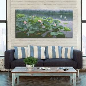 online buy wholesale koi pond painting from china koi pond With what kind of paint to use on kitchen cabinets for large canvas wall art landscape