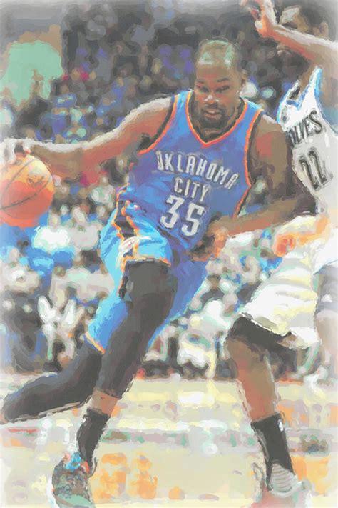 Oklahoma City Thunder Kevin Durant Poster Canvas Print