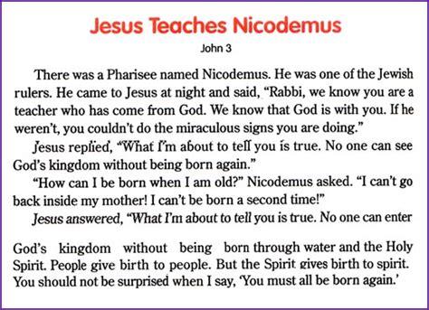 story of nicodemus for preschoolers jesus teaches nicodemus story korner biblewise 899
