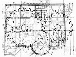 Drawn gears engineering drawing - Pencil and in color ...