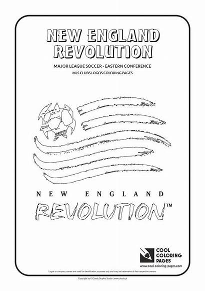 Coloring Pages England Revolution Logos Mls Soccer