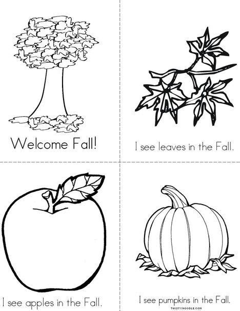 94 Best Autumn Coloring Pages, Worksheets, And Mini Books Images On Pinterest  Mini Books