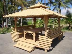 Salon De Jardin Bambou : gazebo et ameublement bambou laval 53 ~ Teatrodelosmanantiales.com Idées de Décoration