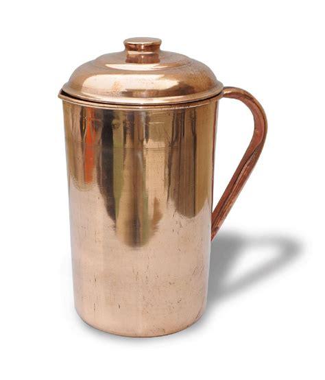 prisha india craft pure copper jug handmade indian copper utensils  ayurveda healing buy
