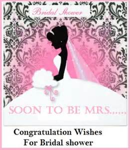 wedding shower greetings congratulation messages bridal shower