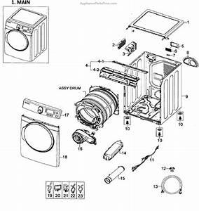 Parts For Samsung Dv448aep  Xaa-0001  Main Assy Parts