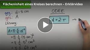 Diagonale Eines Quadrats Berechnen : flache eines kreises berechnen vorwissen videos ~ Themetempest.com Abrechnung