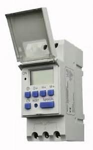 Programmable Timer Switch Dc 12v 16a Din Rail Mounted
