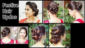 2 Quick&Easy Indian Bun Hairstyles for saree/anarkali/lehnga//Party Hairstyles for medium/long
