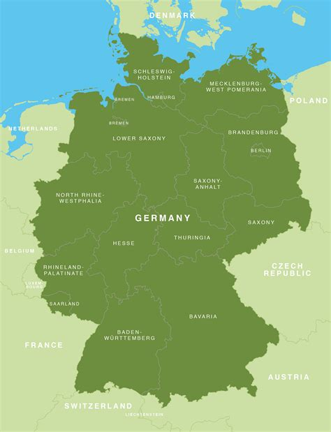Map Of Germany German States Bundesländer Maproom