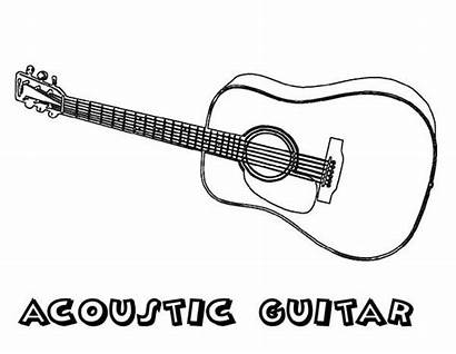 Guitars Coloring Guitar Pages Acoustic