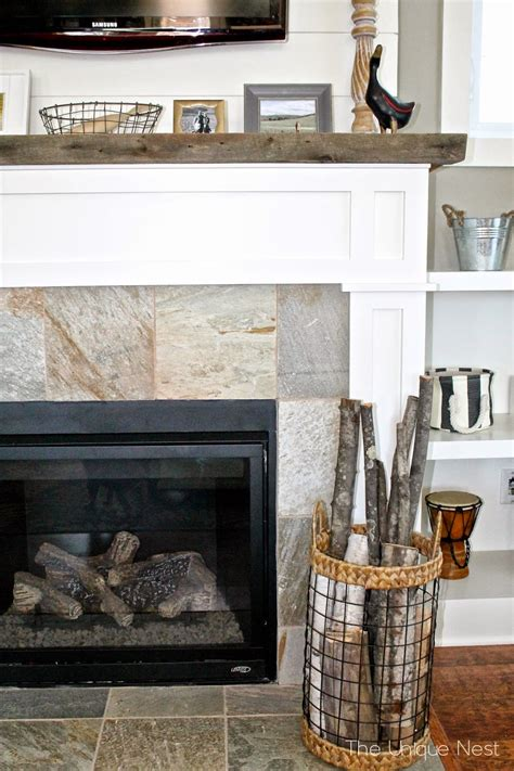 Shiplap Fireplace With Builtins  The Unique Nest