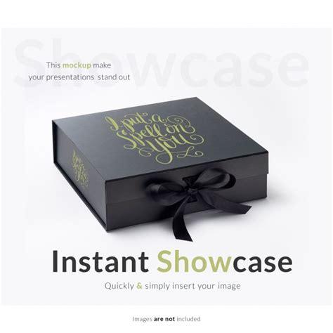 Free mockups and design tools. Caixa de presente preta com maquete | Download PSD gratuito