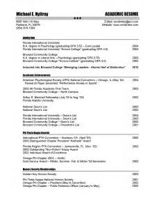 sle resume with professional experience academic resume resume cv template exles