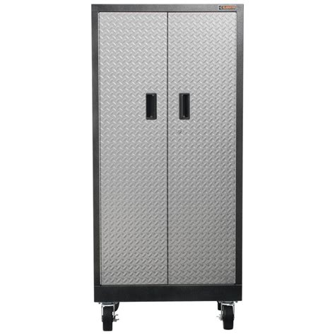 free standing storage cabinets for garage gladiator premier series pre assembled 66 in h x 30 in w
