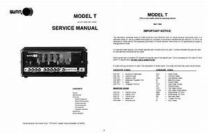 Sunn Model T 2nd Gen Sch Service Manual Download